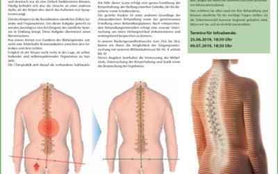 Rückengesundheitswoche 24.6. bis 28.06.19